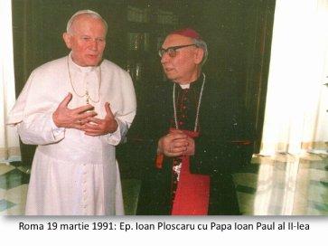Bp Ioan Ploscaru with JP2